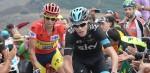 Chris Froome rijdt de Vuelta