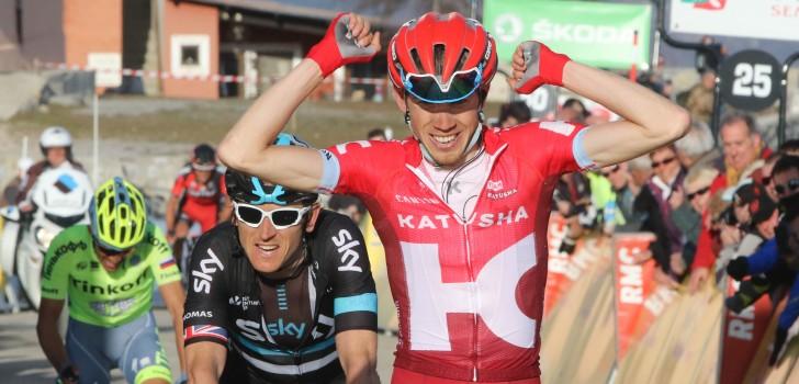 Zakarin wint op La Madone d'Utelle, Thomas nieuwe leider