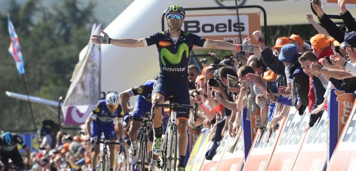 Valverde maakt zegegebaar in Waalse Pijl, Poels vierde