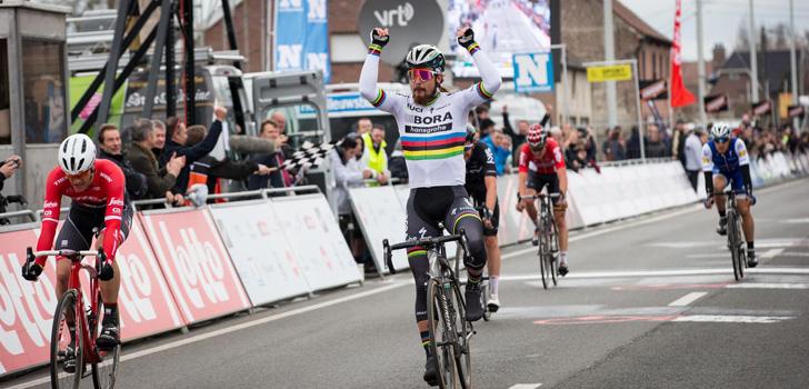 Peter Sagan de beste in Kuurne-Brussel-Kuurne