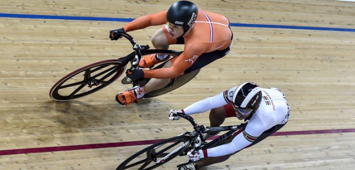 Lavreysen sprint naar goud in Manchester, twee Nederlanders op Keirin-podium