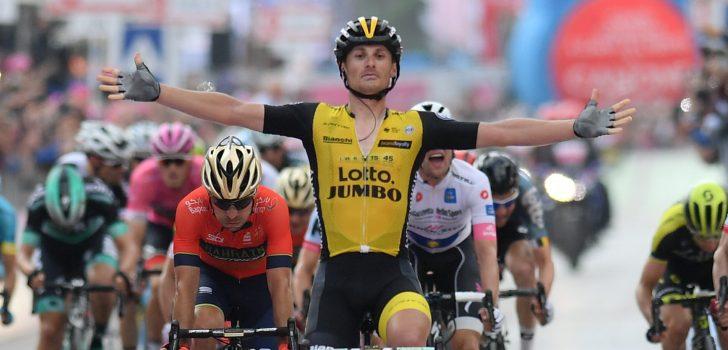 Giro 2018: Enrico Battaglin bezorgt LottoNL-Jumbo eerste dagsucces