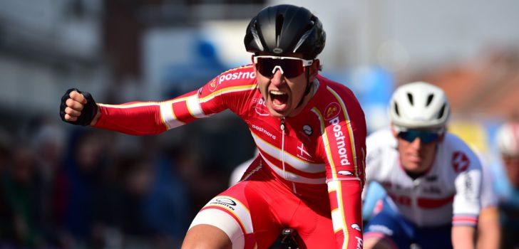Andreas Stokbro spurt naar winst in Ronde van Vlaanderen U23
