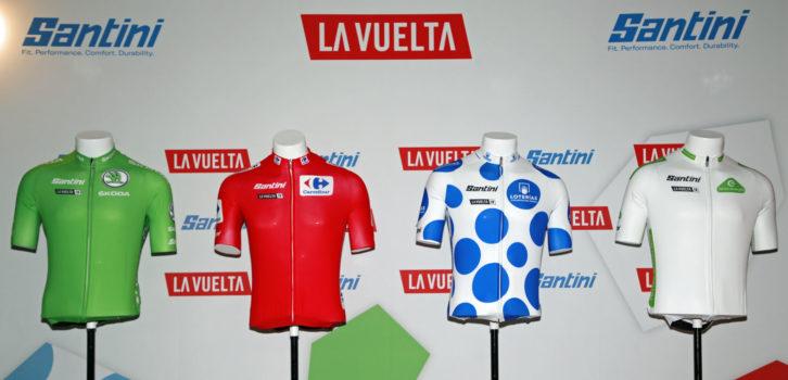Santini doet leiderstruien Vuelta a España 2019 uit de doeken