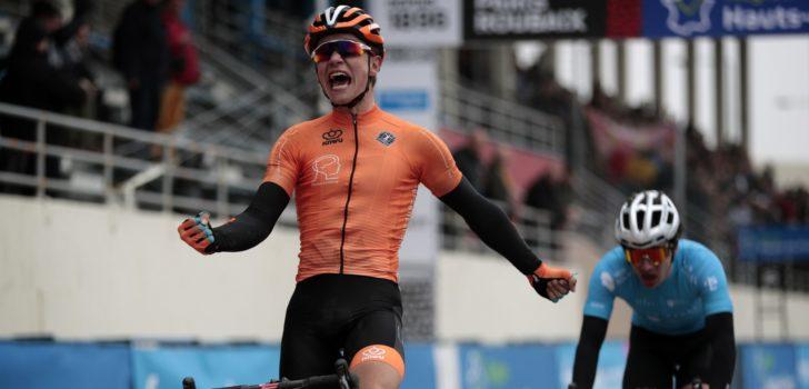 Hidde van Veenendaal toont zich de sterkste in thuiskoers Ronde van Midden-Brabant
