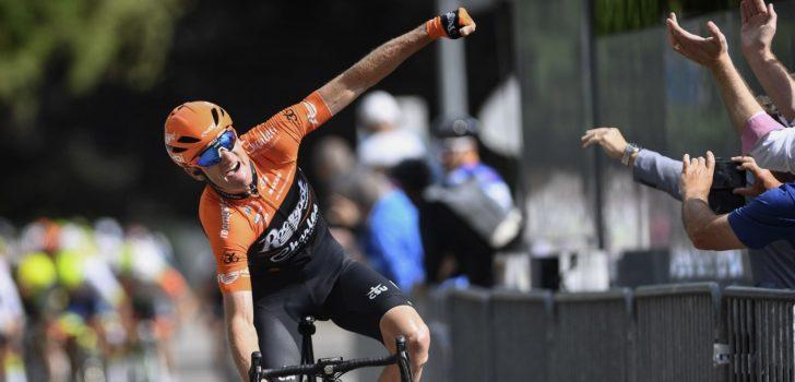 Pieter Weening verschalkt het peloton in Ronde van Luxemburg