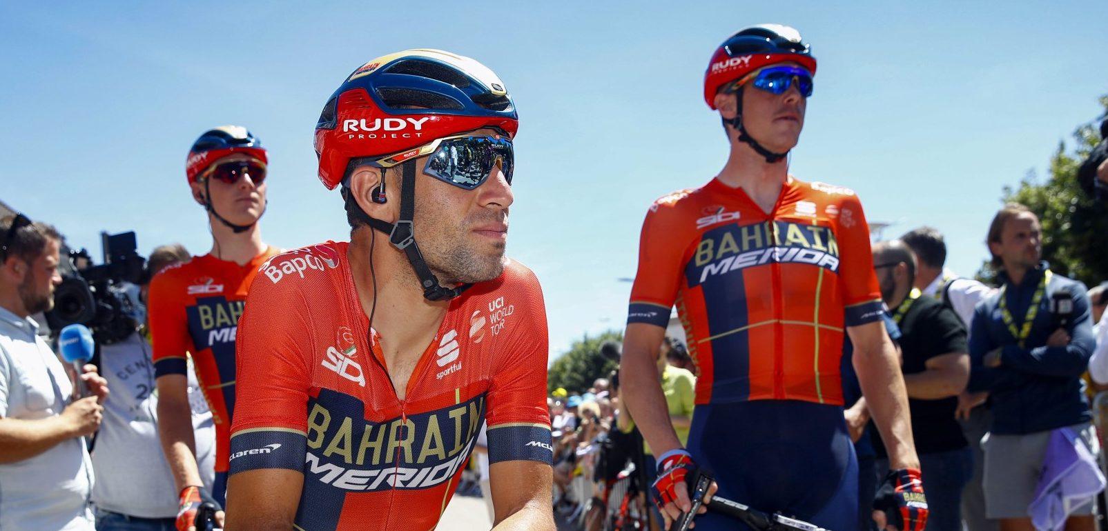 Vincenzo Nibali en Rohan Dennis van Bahrain-Merida