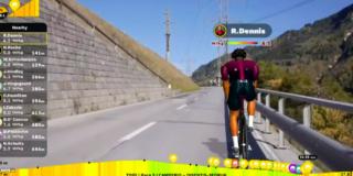 Rohan Dennis verslaat Nicholas Roche in slotrit virtuele Ronde van Zwitserland