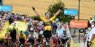 Dauphiné: Wout van Aert wint geanimeerde openingsrit