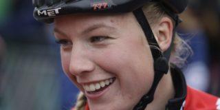 Gevallen Annemarie Worst traint weer op de rollers