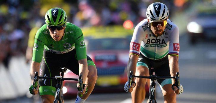 Tour 2020: Peter Sagan feliciteert Sam Bennett al met winst groene trui