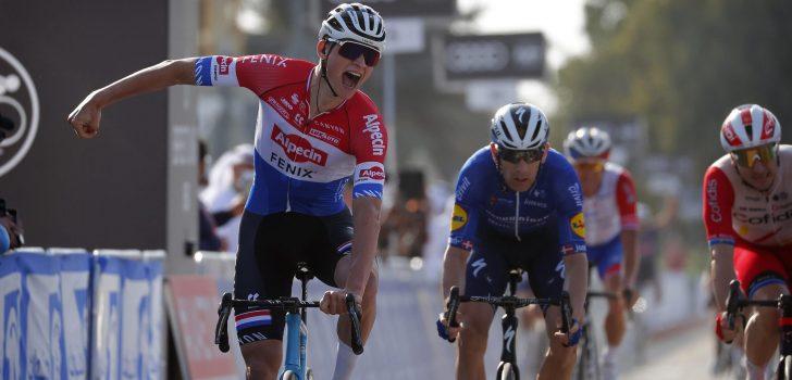 UAE Tour: Mathieu van der Poel verslaat David Dekker na waaierspektakel