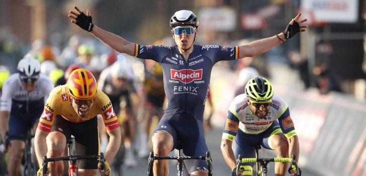 Machtige sprint bezorgt Tim Merlier de winst in Le Samyn