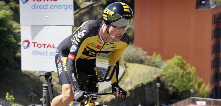 Primoz Roglic verkent tijdritten Tour de France