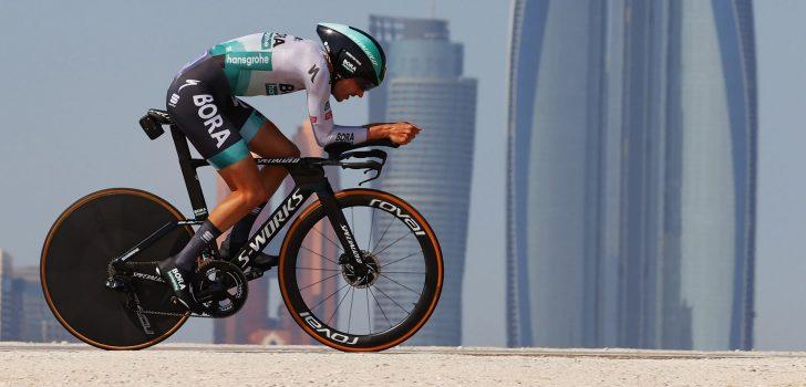 """Buchmann wil Giro-podium halen: """"Niet erg om kopmanschap te delen met Sagan"""""""