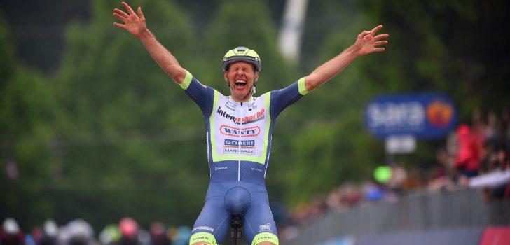 Giro 2021: Taco van der Hoorn stunt in Canale met ritwinst uit vroege vlucht