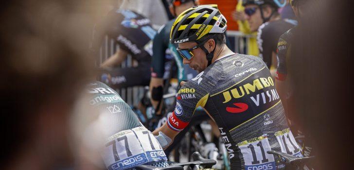 """'Mummie' Primoz Roglic doorstaat vierde rit: """"Was een heel lastige dag"""""""