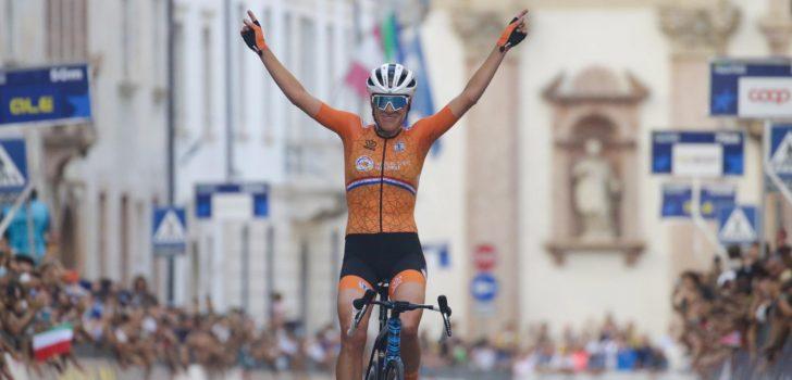 Ellen van Dijk kroont zich tot Europees kampioene na fraaie solo